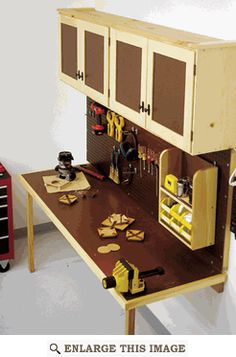 Work Bench, Station Woodworking Plan, Shop Project Plan | WOOD Store