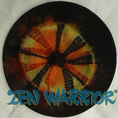 Zen Warrior Hand-Dyed Wool Berets stretch to fit any size head!!! This one in yellow, orange, red and black!!!