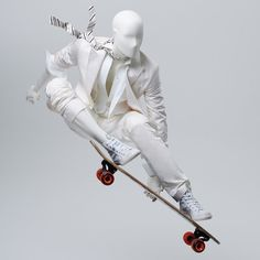 "GENESIS MANNEQUINS, (ATHLETIX), Aurtal, Germany, ""Ask not what your skateboard can do for you... But what you can do for your skateboard"", pinned by Ton van der Veer"