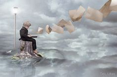 A Tall Tale (Tracy-Williams) Tags: boy reflection beautiful clouds photomanipulation photoshop book child artistic pages creative manipulation