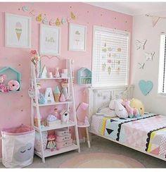 Toddler bedroom girl - Little girls room kidsgirlsbedroom Baby Bedroom, Girls Bedroom, Bedroom Decor, Kids Bedroom Designs, Cute Bedroom Ideas, Toddler Rooms, Kids Rooms, Little Girl Rooms, House