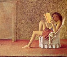 painting by polish/french painter balthus of a girl reading in a chair Reading Art, Woman Reading, Reading Books, Modern Artists, French Artists, Figure Painting, Painting & Drawing, Human Painting, People Reading