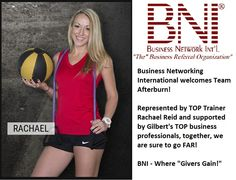 BNI (Business Network International) welcomes Team Afterburn to its rank!