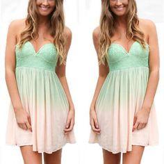 Bustier Summer Womens Dress Fashion..