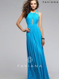 Mesh with illusion center front Evening Dress Prom Dress FAVIANA 7741