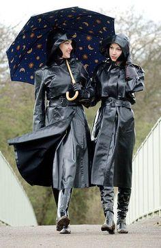 walking in the rain (pvc raincoat fetish)