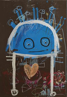 Heart Digital Illustration, Scandinavian, Colour, Canvas, Heart, Artist, Blue, Painting, Fictional Characters
