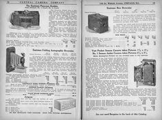 Catalogue of Cameras, Kodaks, Lenses and Photographic Accessories, Central Camera Co., 1919