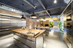 Open Plan Kitchen, Dining  Living Space, Loft Style Home in Terrassa, Spain