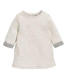 Kuviopintainen mekko | Luonnonvalkoinen/Harmaa | Lapset | H&M FI