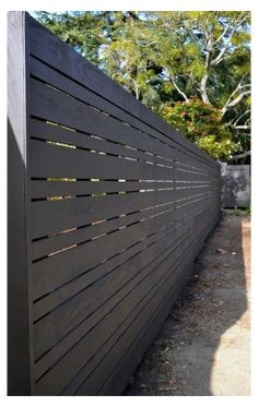Modern Wood Fence, Wood Fence Design, Modern Fence Design, Privacy Fence Designs, Privacy Fences, House Fence Design, Privacy Screens, Backyard Privacy, Backyard Fences