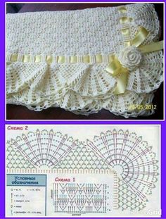 Trendy ideas for crochet blanket edging posts Afghan Patterns, Crochet Stitches Patterns, Crochet Chart, Baby Knitting Patterns, Crochet Designs, Crochet Blanket Edging, Baby Afghan Crochet, Crochet Borders, Baby Afghans