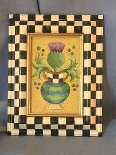 MacKenzie Childs Inspired Hand Painted Picture In A Courtly