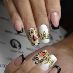 маникюр, ногти, корона, нейл арт, nail art, manicure,design, beauty, жидкие камни