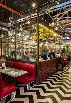 Handmade Burger Co (Grand Central, Birmingham, UK), Restaurant or Bar in a transport space | Restaurant & Bar Design Awards