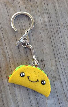 Kawaii Taco Keychain by IHeartGamers on Etsy