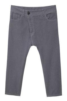 i admit it...love the drop crotch pant Drop Crotch Pants, Grey, Fashion, Gray, Moda, Fashion Styles, Fashion Illustrations