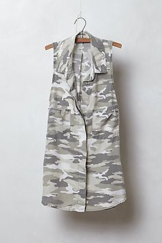Loving camo print this season...Covert Chambray Shirt #anthropologie