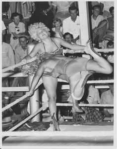 Female wrestlers, c. 1950s