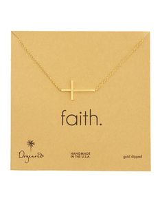 Integrated Cross Pendant Necklace by Dogeared at Neiman Marcus.