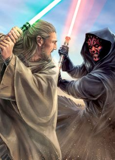 Qui-Gon Jinn vs Darth Maul Star Wars