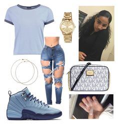 """chillin☁☁"" by lovvveeeeee ❤ liked on Polyvore featuring Michael Kors, Boohoo, NIKE, Wet Seal and MICHAEL Michael Kors"