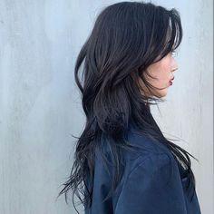 Long Hair With Bangs, Long Hair Cuts, Korean Long Hair, Korean Haircut Long, Cabelo Inspo, Haircuts Straight Hair, Medium Hair Styles, Long Hair Styles, Shot Hair Styles