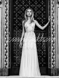 Jenny Packham...Luna, beaded bridal gown, tulle, charmeuse, silk, halter, bridal gown, wedding gown