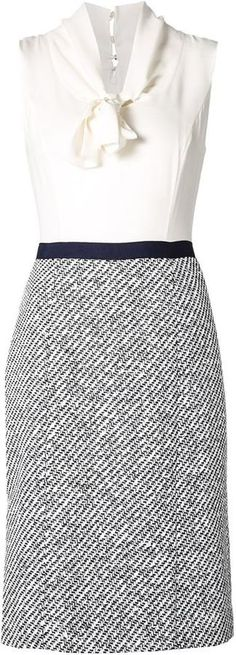 Pin for Later: You'll Love Every Little Detail About Amal Clooney's Latest Interview Dress Shop Amal's Dress Oscar de la Renta Tweed Skirt Combo Dress ($1,990)