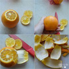 Cáscaras de naranja cristalizadas (azucaradas & con chocolate y sal de mar)  www.pizcadesabor.com