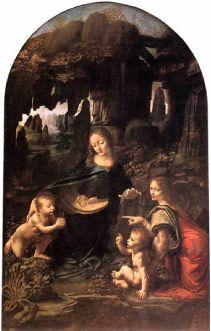 The Virgin on the Rocks (c. 1505-1508) by Leonardo da Vinci   Oil on Wood Panel