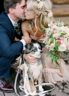 Rustic Chic Colorado Ranch Wedding How I have been DYING to share this Colorado wedding day. Annaleigh and Joey are two of the best people. This NYC couple came back to Annaleigh's home state to show some of their… Dog Wedding, Wedding Pictures, Wedding Ceremony, Wedding Day, Wedding Blush, Green Wedding, Summer Wedding, Rustic Wedding, Happy National Dog Day