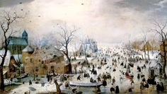 Hendrik Averkamp - Winter Games FOR time they read Hans Brinker... Winter village combination all students diorama??  use Averkamp's paintings for inspiration??