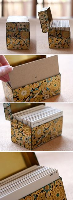 Create a memory box full of index cards. Each card is stamped with Month and Day. Everyday, write a one or two liner of something that happened that day or a wonderful little memory.