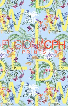Tropical print.. from Fusion CPH print design studio from Copenhagen. We design all kind of prints for fashion and interior textiles. See some of our unique prints at Instagram: fusioncph or at www.fusioncph.com Mixed Prints, Copenhagen, Print Design, Print Patterns, Tropical, Textiles, Sugar, Studio, Unique