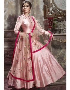 Scintillating Soft Pink Anarkali Suit