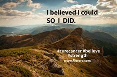 Fill your mind with positive thoughts. #believe #strength #curecancer #BreastCancerAwareness #WeAreOne #DoGood