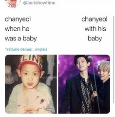 Now chanyeol would have the feeling of a mother Chanbaek Fanart, Exo Chanbaek, Exo Ot12, Exo Chanyeol, Kyungsoo, K Pop, Exo Facts, Kpop Memes, Xiuchen