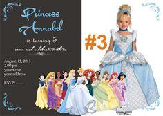 disney princess digital invitation by bulustalan on Etsy