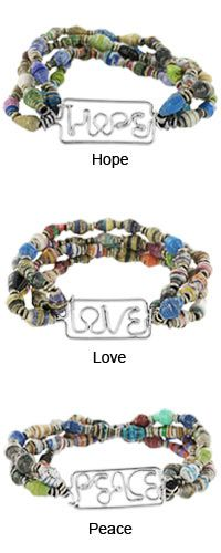 Recycled Magazine Inspiration Bracelet at The Animal Rescue Site