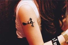 witchcraft pictures | ... witch tattoos, broom tattoos, tattoos, tattoo designs, tattoo pictures