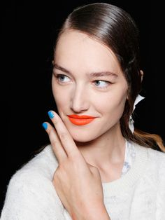 The Best Nail Looks From New York Fashion Week: Runway Beauty: allure.com MONOCHROMATIC FRENCH AT PRABAL GURUNG