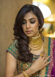 love the layered necklaces,  Ritu Kumar lengha