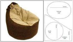 Make A Bean Bag Chair, Diy Bean Bag, Sewing Projects For Kids, Sewing Crafts, Modern Bean Bag Chairs, Bean Bag Pattern, Sewing Tutorials, Sewing Patterns, Giant Bean Bags
