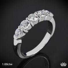 "'Five Stone Shared Prong"" Diamond Wedding Band | 818"