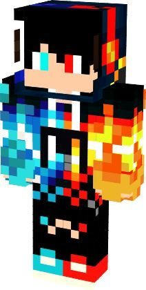 blue_red | Nova Skin Minecraft Skins Blue, Minecraft Skins Kawaii, Minecraft Skins Aesthetic, Minecraft Beads, Minecraft Games, How To Play Minecraft, Minecraft Character Skins, Minecraft Characters, Herobrine Wallpaper