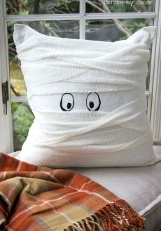 The Cutest Little Mummy Pillow (That's Super Simple to Make!)