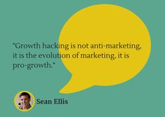 """""""Growth hacking is not anti-marketing, it is the evolution of marketing, it pro-growth. Online Marketing, Digital Marketing, Growth Hacking, Content Marketing Strategy, Social Media Template, Pinterest Marketing, Social Media Tips, Reading Lists, Competitor Analysis"""