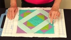 SCROLL DOWN TO THE NEXT PAGE To SEE the Video LOOK! NO PAPER…, PAPER PIECING! Not Sure How New this Product is But It's New to Some of US! With a resurgence in Paper Piecing this is going to make it much easier for Beginners to adapt to Quilt As You Go Piecing Method. Could be …