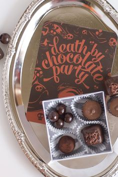 Death By Chocolate Halloween Party | Confetti Sunshine